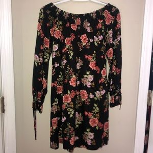 H&M off the shoulder flower dress
